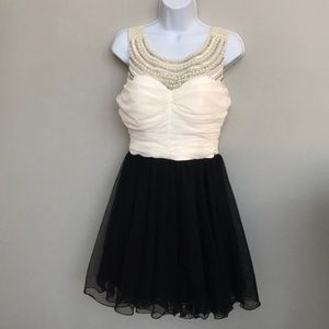 As You Wish Beaded/Pearl Neckline Dress Size 9